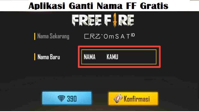 Aplikasi Ganti Nama FF Gratis