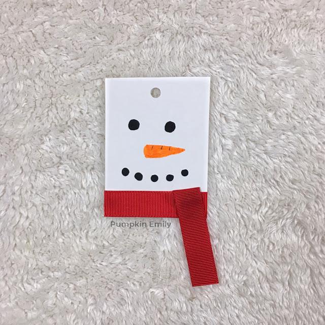 DIY Snowman Gift Tag
