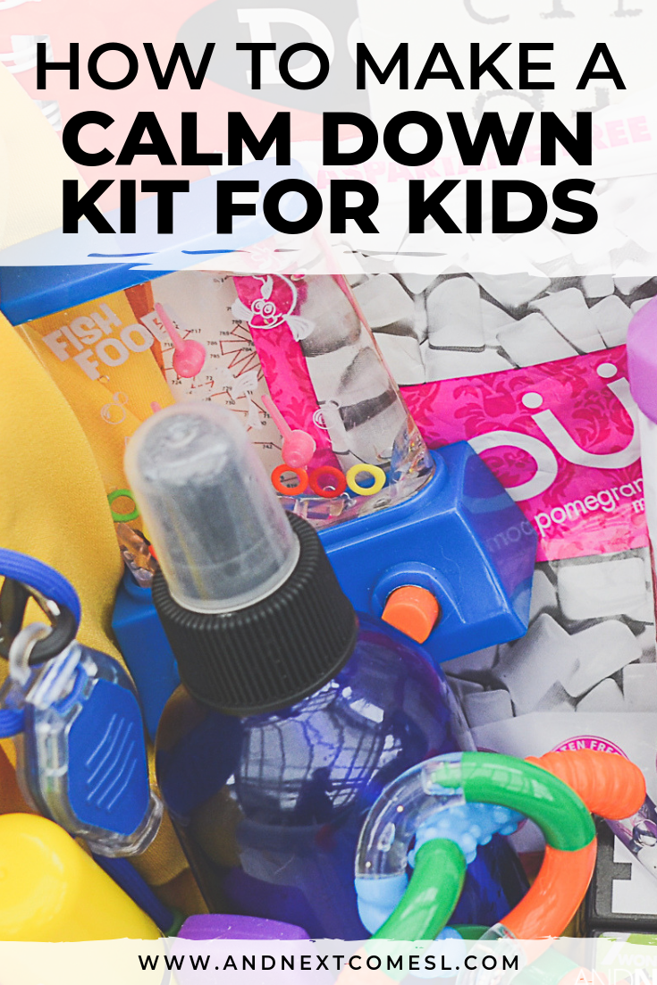 How to make a calm down kit for kids