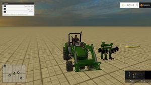 John Deere 2032 tractor + implements