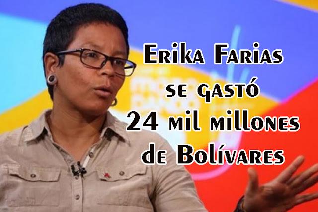Erika Farías se gastó 24 mil millones de bolívares solo para las fiestas de Navidad de Caracas