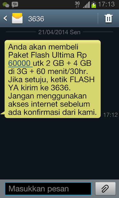 Paket Telkomsel Flash Ultima 6GB Hanya 60Ribu