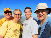 Dave, Loren, Jeff, and Dan on Mount Bell