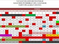 KALENDER PENDIDIKAN MTs CIJANGKAR TP 2020/2021