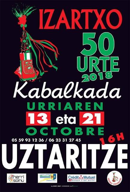 Cavalcade Izartxo kabalkada Ustaritz 2018