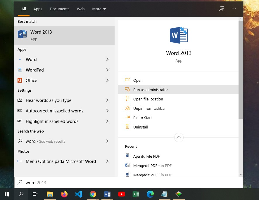 Buka Microsoft Office Word
