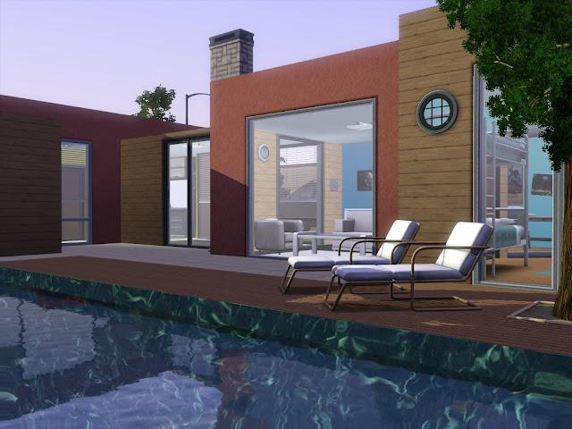 maison sims 3 avec grande piscine