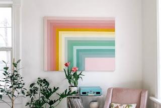 rainbow wall art