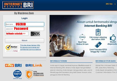 Cara internet banking BRI