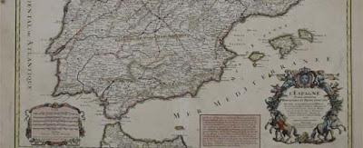 Primer mapa de España de postas