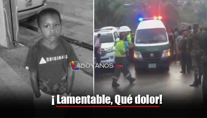 Encuentran sin vida al niño Marlon Andrés, quien había desaparecido en Medellín