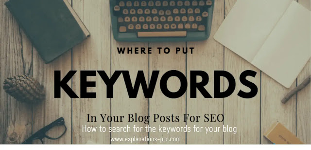 How to search for the keywords for your blog