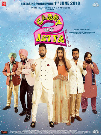 Poster Of Punjabi Movie Carry on Jatta 2 2018 Full HD Movie Free Download 720P Watch Online