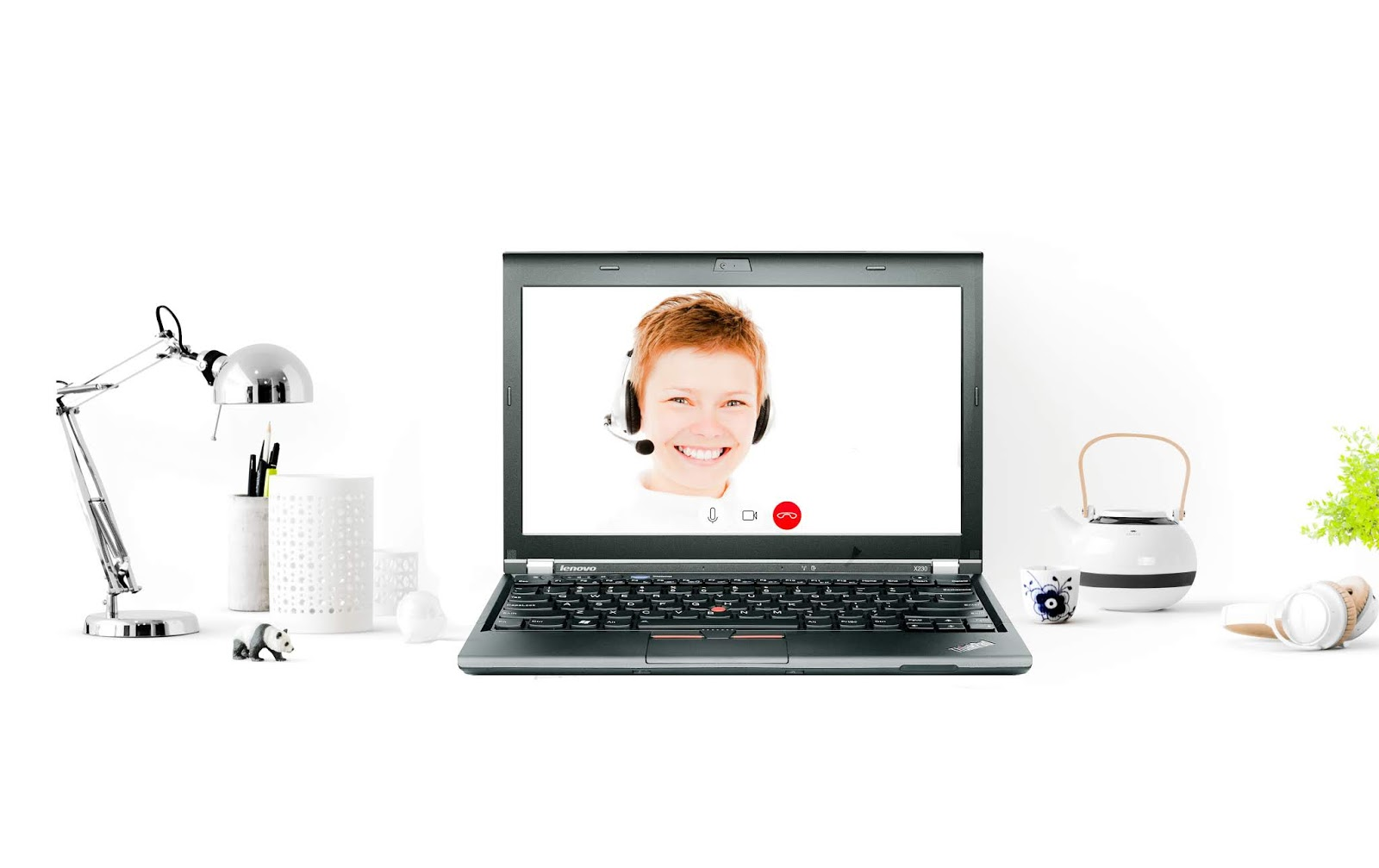 image of woman using video conference
