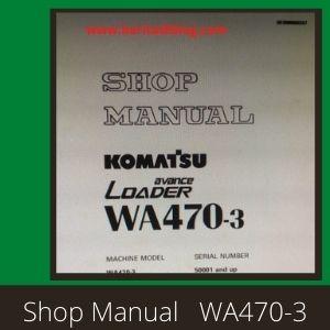 WA470-3 shop manual wheel loader komatsu