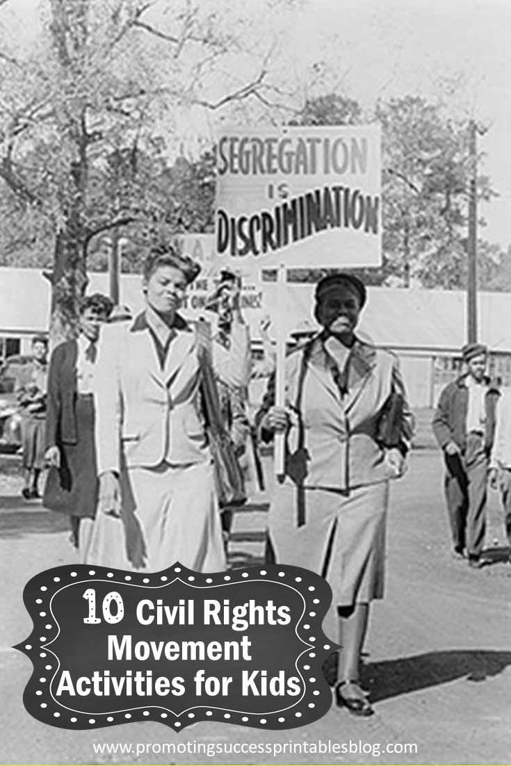 medium resolution of Promoting Success: 10 Civil Rights Movement Activities for Kids