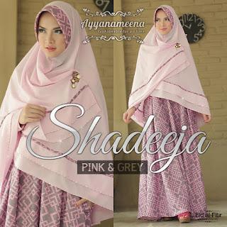 Ayyanameena Shadeeja Pink-Grey