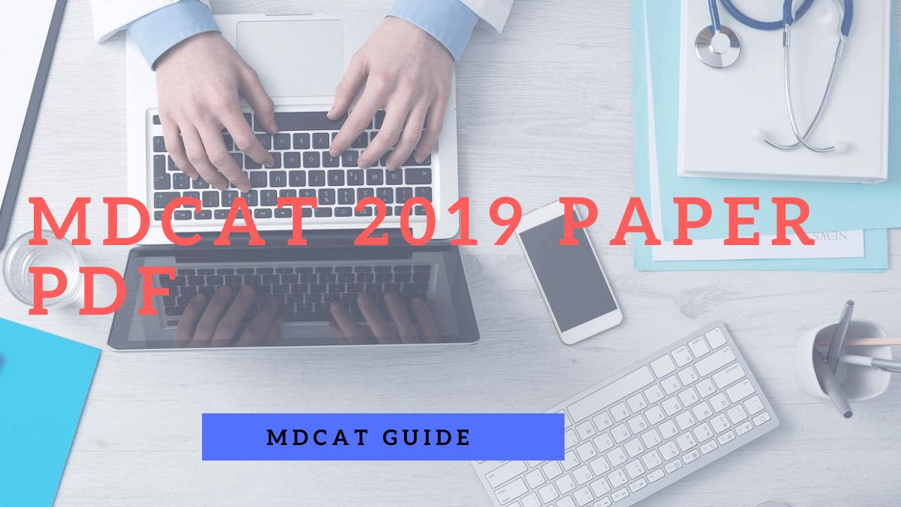 mdcat past paper 2019 pdf