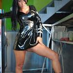 Andrea Rincon, Selena Spice Galeria 5 : Vestido De Latex Negro Foto 108