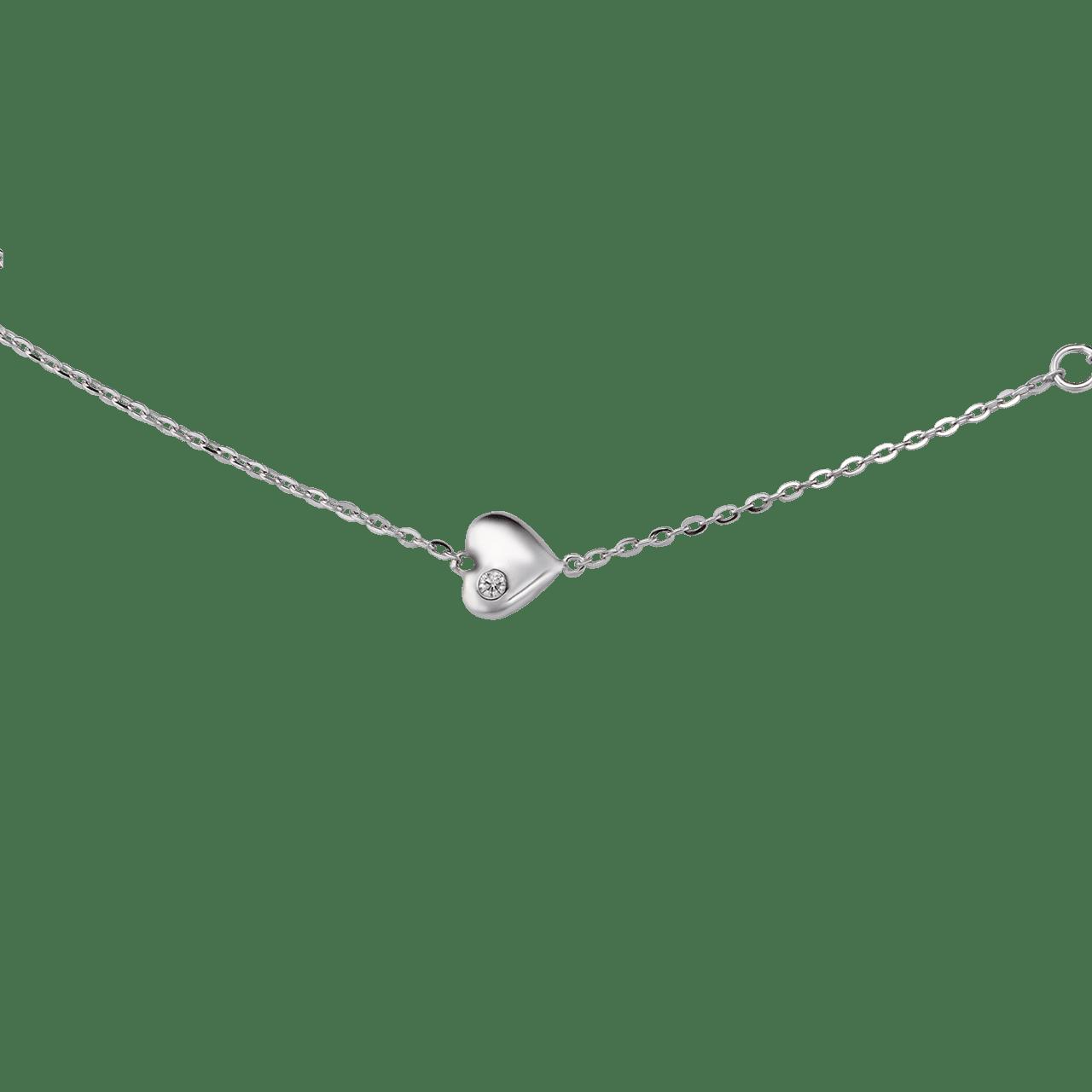 Lắc tay Kim cương Vàng trắng 14K PNJ First Diamond DD00W000035