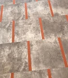 New tile floor in the branch meeting room