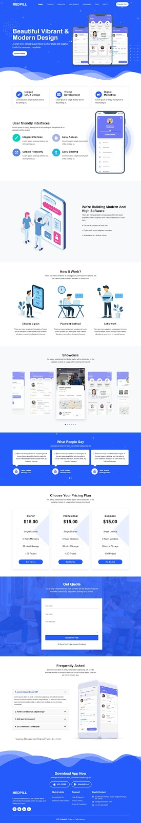 Multipurpose One Page Landing Page Template