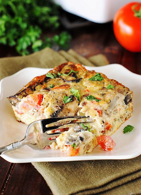 Piece of Italian Egg Casserole Image