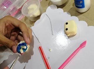 Keanna working on clay