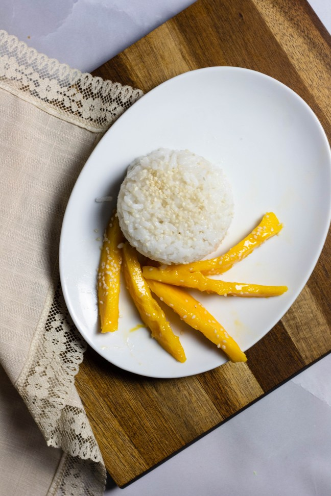 Mango with Sticky Rice Recipe from Brunei