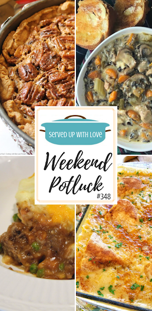 Deep Dish Pecan Pie, Instant Pot Chicken and Mushroom Wild Rice Soup, Cottage Pie, Chicken and Rice Casserole, and so much more are featured recipes at Weekend Potluck.