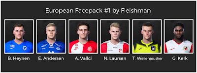 PES 2021 European Facepack 1 by Fleishman