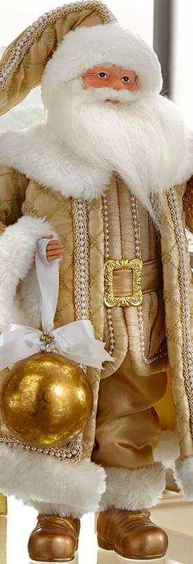 "Glimmer & Gold Santa Figure, 20"""