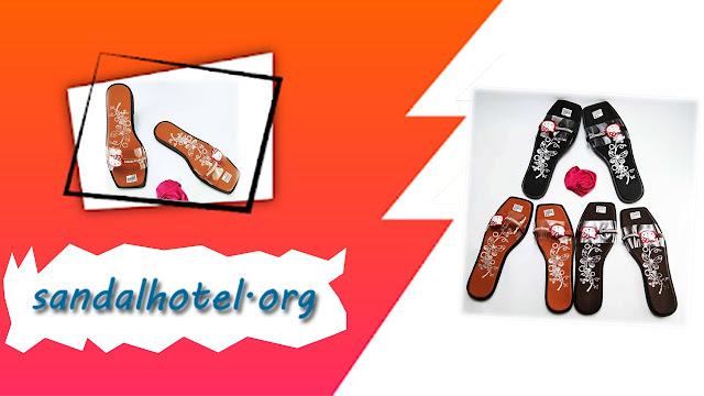 Sandal Slop Mika Motif-Permata Wanita || Pabrik Sandal Hotel Murah