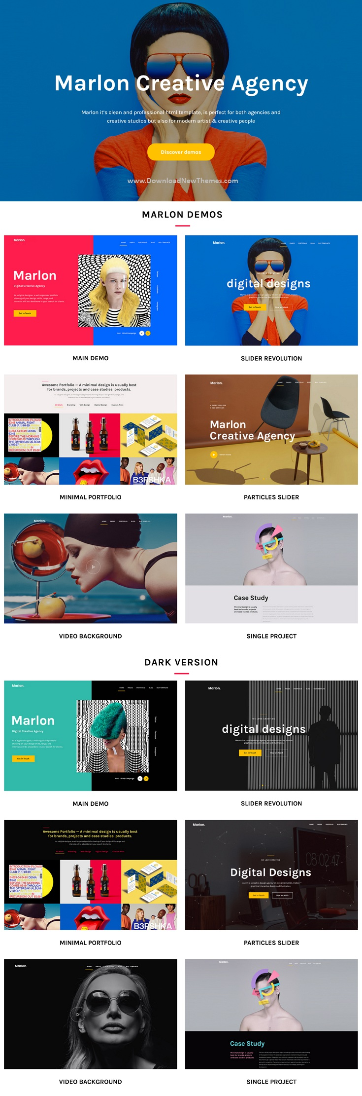 Creative Agency Portfolio Bootstrap Template