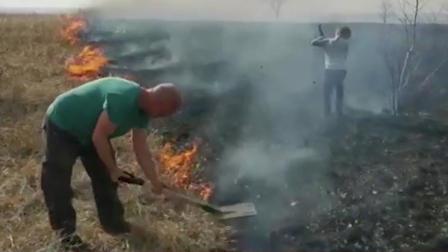 Отец с шестилетним сыном спасли самарское село от пожара