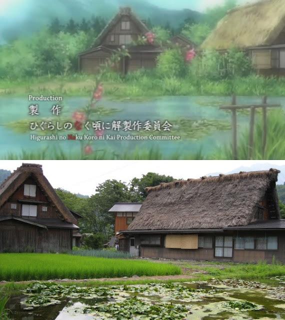 Town Houses - Shirakawa-Go, Higurashi: When They Cry, Hinamizawa