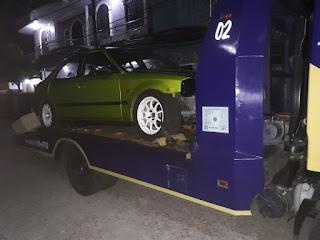 Pengiriman Mobil Menggunakan Towing Atau Yang Lebih Sering Disebut Dengan Derek Towing Dari Jakarta Sampai Lamongan Jawa Timur.