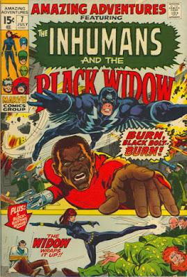 Amazing Adventures #7, The Inhumans and Black Widow