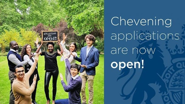 MASTER'S SCHOLARSHIP IN U.K (CHEVENING SCHOLARSHIP) Deadline NOVEMBER 5, 2019 (NO TOEFL or IELTS REQUIREMENT AT THE TIME OF APPLICATION)
