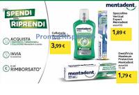 Logo Mentadent Più spendi Più riprendi su spazzolino, collutorio e dentifricio