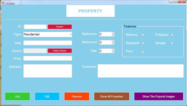 manage property form