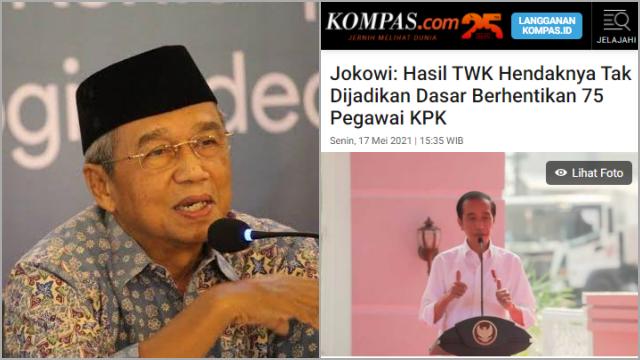 Busyro Sindir Jokowi soal Nasib 75 Pegawai KPK: Jangan Basa-basi