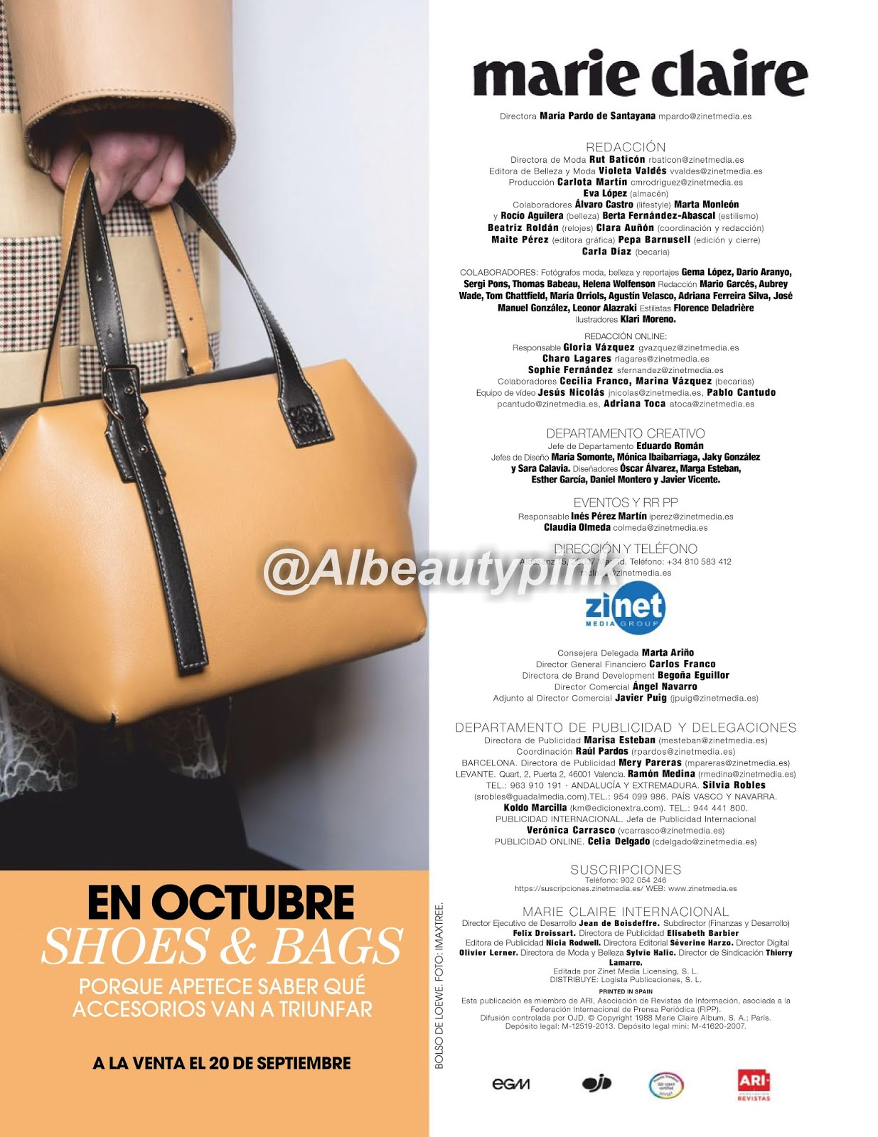 avance regalo revista octubre 2019 marie claire shoes and bags