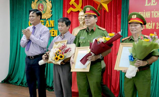 Lạnh đạo Tỉnh ủy Phú Yên khen thưởng cá nhân, tập thể ban chuyên án