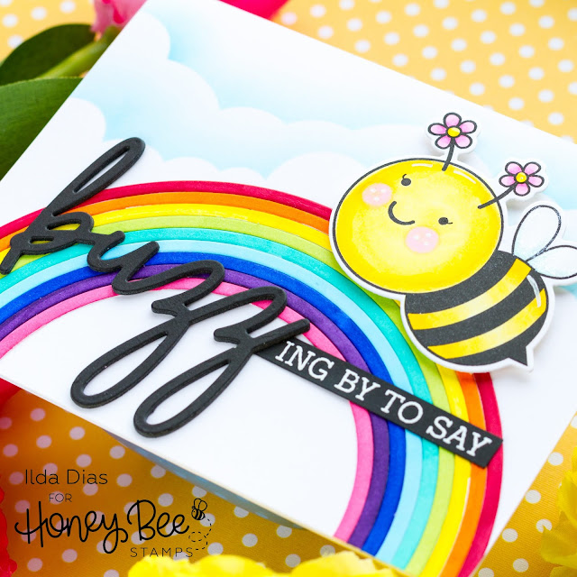 Buzzing by Spring Bee Card | Day 3 Sneak Peek Honey Bee Stamps 5th Anniversary Release
