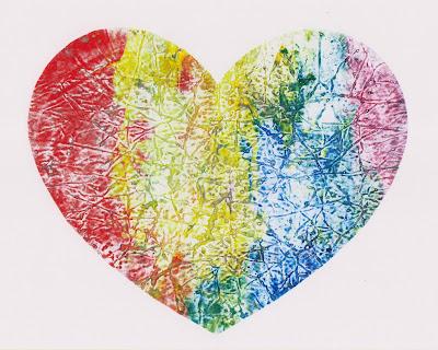 LGBTQ Pride rainbow heart