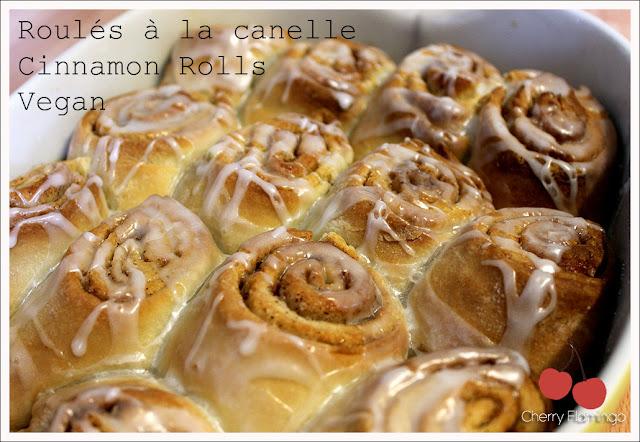 Cinnamon rolls roul s la cannelle vegan cherry - Roule a la cannelle ...