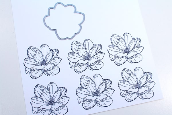 Use a die cut for handmade floral card