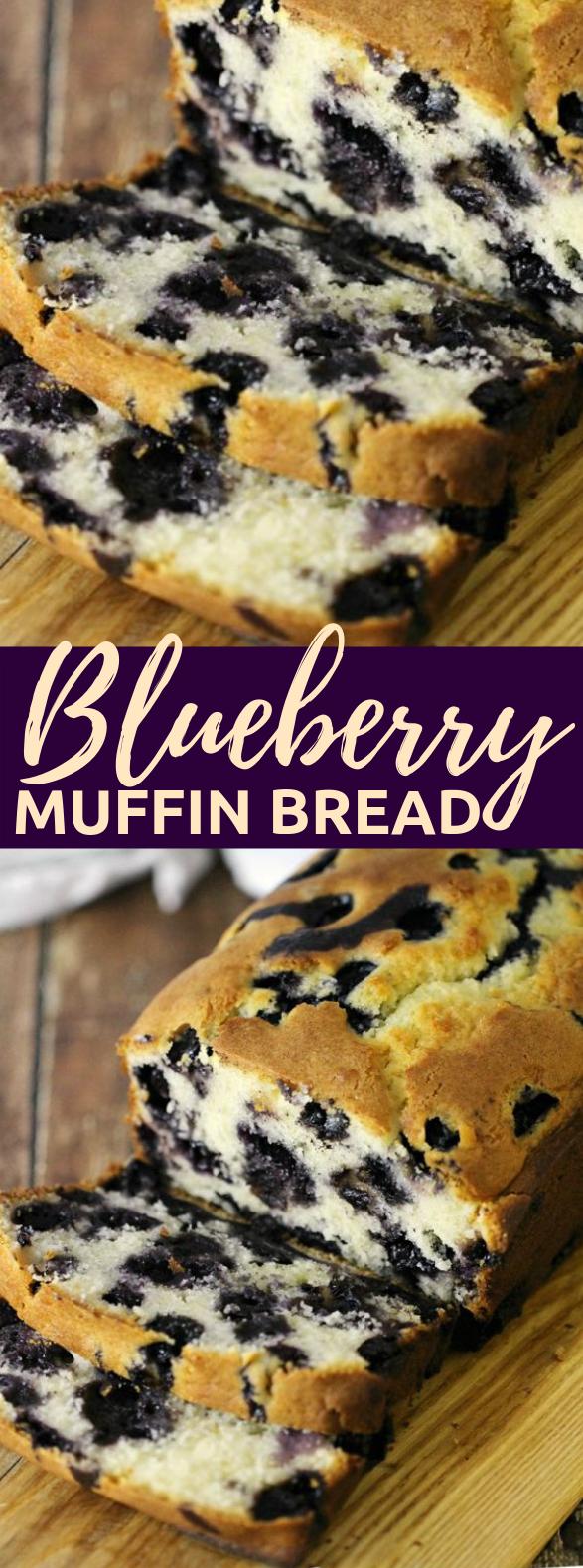 BLUEBERRY MUFFIN BREAD RECIPE #breakfast #cake