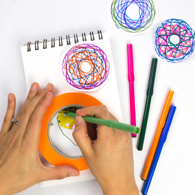 diy homemade spirograph toy- such a fun STEAM project for kids